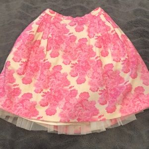 Gorgeous floral tulle skirt!